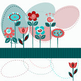 Cute flowers background Royalty Free Stock Photography