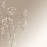 Cute flowers illustration Stock Photography