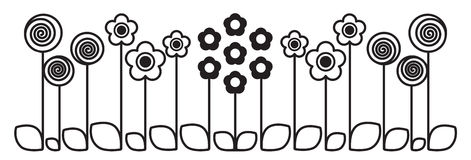 Cute flowers - illustration Stock Images