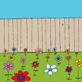 Cute Flowers Near Fence Stock Images