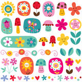 Cute flowers pattern Royalty Free Stock Image