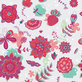 Cute flowers pattern Stock Image