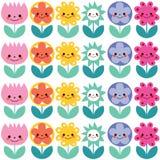 Cute flowers pattern Stock Photos