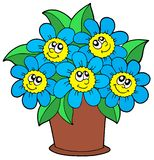 Cute flowers in pot Royalty Free Stock Image