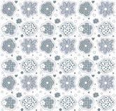 Cute flowers seamless pattern. Cute blue cartoon flowers seamless pattern Royalty Free Stock Images