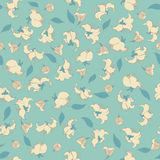Cute flowers seamless pattern. retro vector background. Royalty Free Stock Image