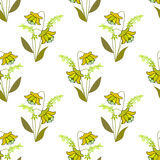 Cute flowers seamless pattern texture on white Stock Images