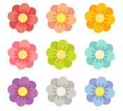 Cute Flowers. Vector File EPS10 Royalty Free Stock Images