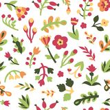 Cute flowers seamless pattern Royalty Free Stock Image