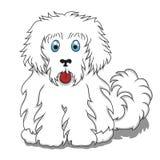 Cute Fluffy Cartoon Dog. Vector Illustration Royalty Free Stock Photo