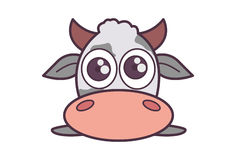 Cute Fluffy Cow. Royalty Free Stock Image