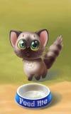Cute fluffy kitten Stock Images