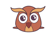 Cute Fluffy Owl. Royalty Free Stock Images