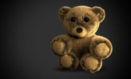 Cute fluffy stuffed bear 3d Royalty Free Stock Photos