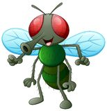 Cute fly animal. Isolated on white background vector illustration
