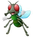 Cute fly animal waving hand vector illustration