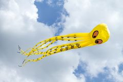 Cute flying kite stock images