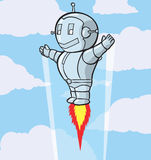 Cute flying robot Royalty Free Stock Photography