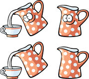 Cute foods - red milk jug Stock Images