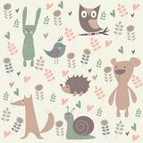 Cute Forest Animals Royalty Free Stock Image