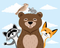 Cute forest animals. Royalty Free Stock Photo
