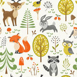 Cute Forest Pattern Stock Photo
