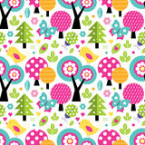 Cute forest pattern Royalty Free Stock Photography