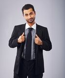 Cute Formal Guy with Confident Attitude Royalty Free Stock Photos