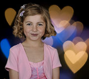 Cute formal picture of young girl portrait Stock Image