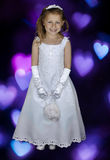 Cute formal picture of young girl portrait Stock Photos