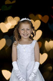 Cute formal picture of young girl portrait royalty free stock photo