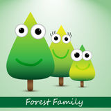 Cute forrest family Stock Image