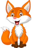 Cute fox cartoon Stock Photo