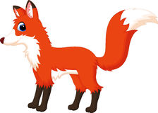 Cute fox cartoon Stock Image