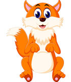 Cute Fox cartoon of illustration Royalty Free Stock Images