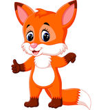 Cute fox cartoon Royalty Free Stock Photography