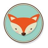 Cute fox icon stock illustration
