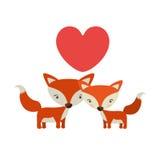 Cute fox icon Stock Photography