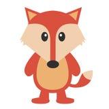 Cute fox icon . Vector cartoon fox isolated on white. Royalty Free Stock Photo