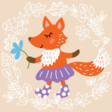 Cute fox Royalty Free Stock Photos