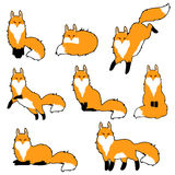 Cute fox sticker set Royalty Free Stock Image