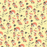 Cute foxes pattern. Royalty Free Stock Photo
