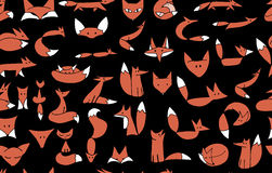 Cute foxes seamless pattern for your design Royalty Free Stock Photos