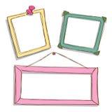 Cute frame doodle Stock Photos