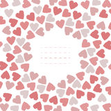 Cute frame with hearts Stock Photography