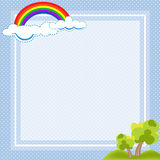 Cute frame of Natural and dot pattern vector royalty free illustration