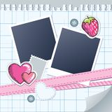 Cute frame for photos Royalty Free Stock Photography