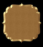 Cute Frame Wavy Gold Stock Image