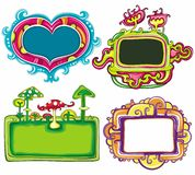 Cute frames royalty free stock photography