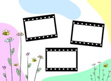 Cute frames. Illustration with flowers stock illustration